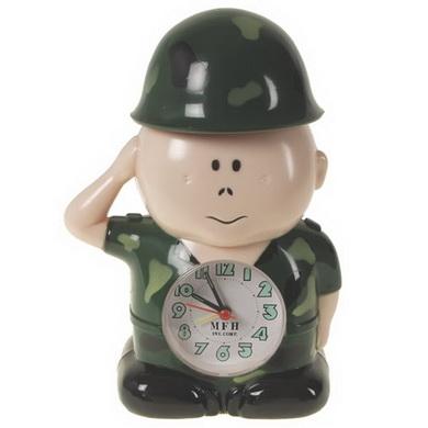 Budík voják WOODLAND 20cm