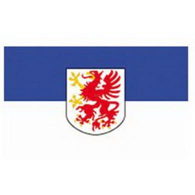 Vlajka POMOØANSKO s emblemem