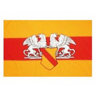 Vlajka BADENSKO s emblemem