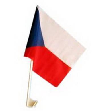 Vlajka na auto ÈESKÁ REPUBLIKA 27x45cm