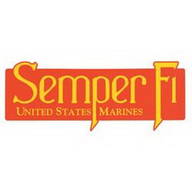 Samolepka na nárazník USMC SEMPER FI