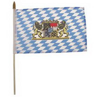 Vlajka BAVORSKO plastová tyèka 10 x 15cm