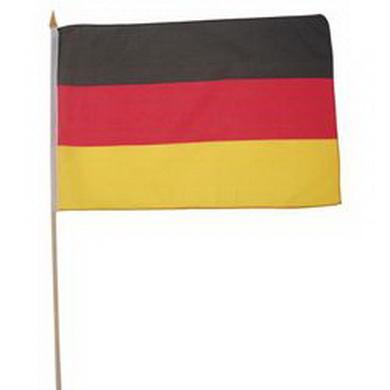 Vlajka NÌMECKO døevìná tyèka 30 x 45cm