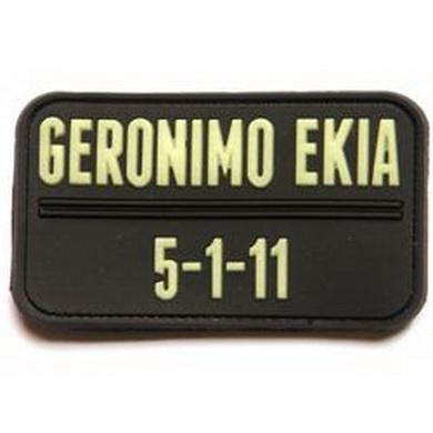 Nášivka GERONIMO EKIA 5-1-11 plast GLOW IN THE DARK