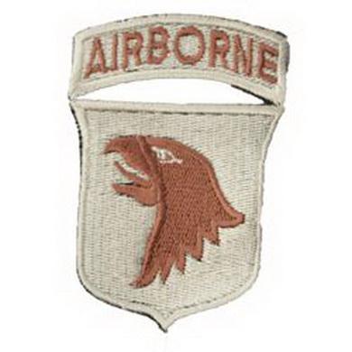 Nášivka 101st AIRBORNE DIVISION - KHAKI