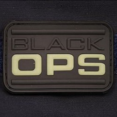 Nášivka BLACK OPS plast GLOW IN THE DARK