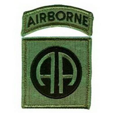 Nášivka 82d AIRBORNE DIVISION velcro OLIV