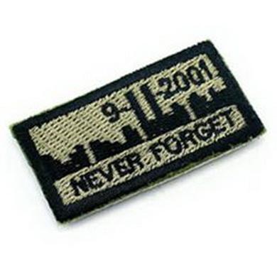 Nášivka 9-11 NEVER FORGET velcro OLIV