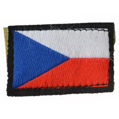 Nášivka ÈR vlajka malá BAREVNÁ - VELCRO