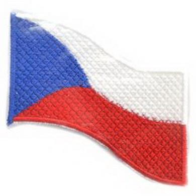 Nášivka ÈR vlajka vlající BAREVNÁ