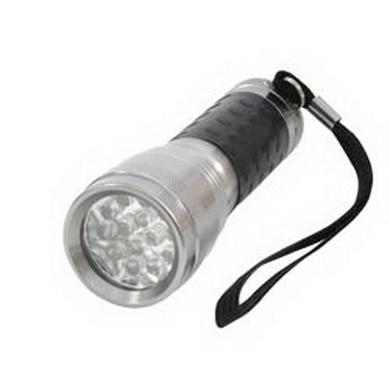 Svítilna 14 LED diod HLINÍK ŠEDÁ