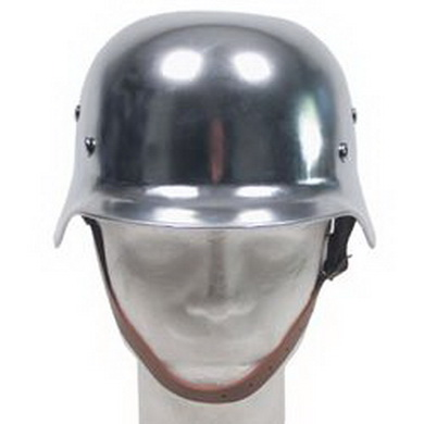 Helma ocelová WWII s koženým vnitøkem CHROM