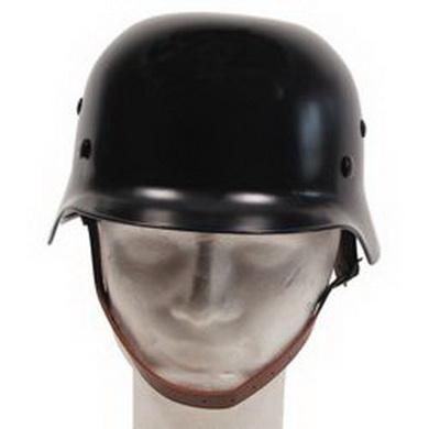 Helma ocelová WWII s koženým vnitøkem ÈERNÁ