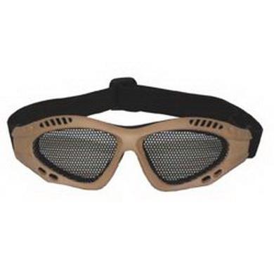 Brýle AIRSOFT kovová møížka PÍSKOVÉ