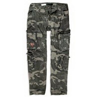 Kalhoty AIRBORNE SLIMMY BLACK CAMO