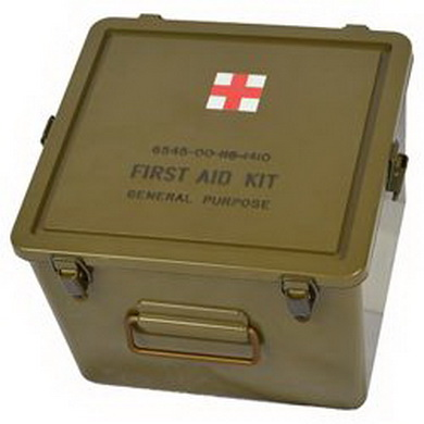 Box US original FIRST AID vodotìsný 24 x 25 x 19 cm