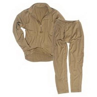 Komplet funkèní spodky a triko ECWCS LEVEL 2 COYOTE