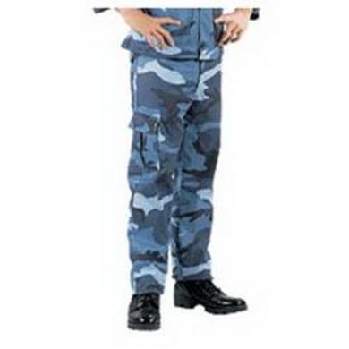 Kalhoty dìtské US MILITARY BDU SKYBLUE