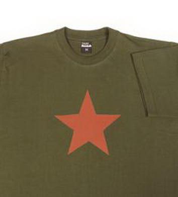 Triko kr. rukáv s nápisem RED STAR OLIV