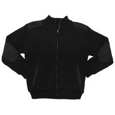 Bunda fleece zip vyztužená ramena a lokty ÈERNÁ