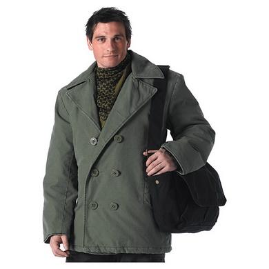 Kabát VINTAGE COTTON ZELENÝ