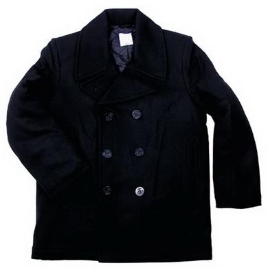 Kabát US Pea Coat ÈERNÝ