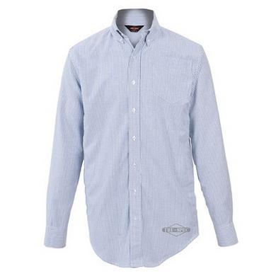 Košile 24-7 proužkovaná dlouhý rukáv BÍLÁ/MODRÁ