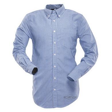 Košile 24-7 proužkovaná dlouhý rukáv MODRÁ/BÍLÁ