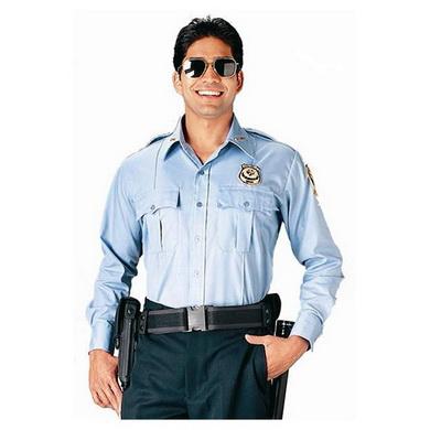 Košile POLICIE A SECURITY dl. rukáv SV.MODRÁ
