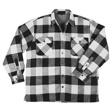 Košile døevorubecká zateplená kostkovaná BÍLÁ