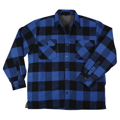 Košile døevorubecká zateplená kostkovaná MODRÁ