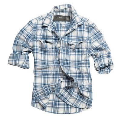Košile WOODCUTTER s dlouhým rukávem MODRÁ