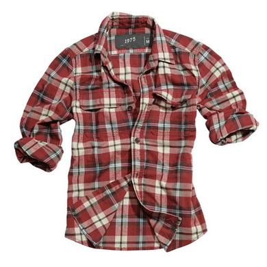 Košile WOODCUTTER s dlouhým rukávem ÈERVENÁ