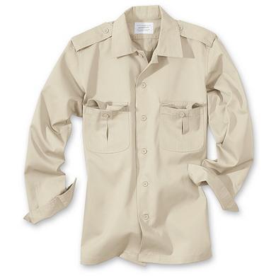 Košile US HEMD s dlouhým rukávem KHAKI