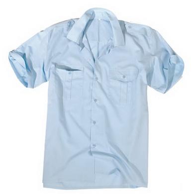 Košile SERVIS krátký rukáv na knoflíky SVÌTLE MODRÁ