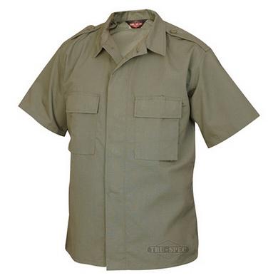 Košile služební krátký rukáv rip-stop ZELENÁ