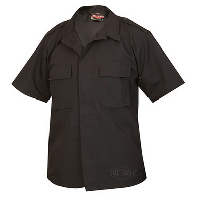 Košile služební krátký rukáv rip-stop ÈERNÁ