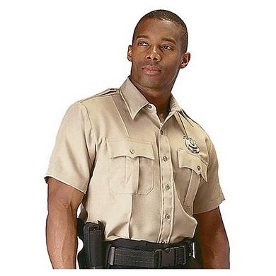Košile POLICIE A SECURITY krátký rukáv KHAKI