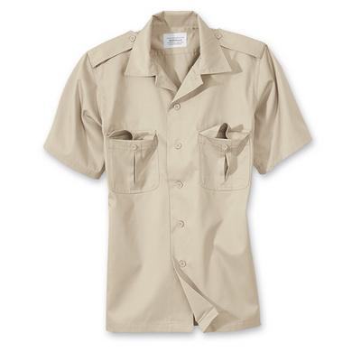 Košile US HEMD s krátkým rukávem KHAKI