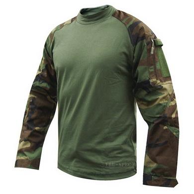 Košile taktická COMBAT rip-stop WOODLAND