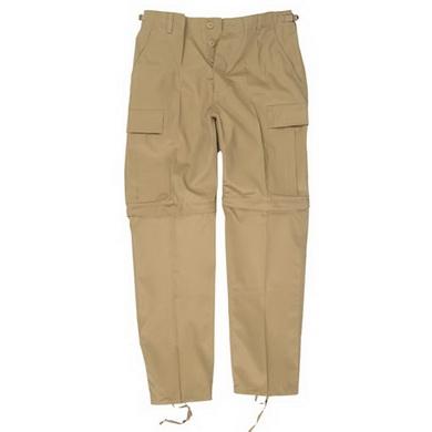 Kalhoty BDU ZIP-OFF odepínací nohavice KHAKI