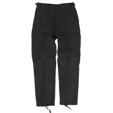 Kalhoty BDU ZIP-OFF odepínací nohavice ÈERNÉ
