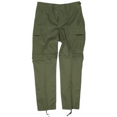 Kalhoty BDU ZIP-OFF odepínací nohavice OLIV