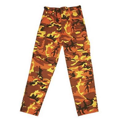 Kalhoty US BDU orange camo MMB