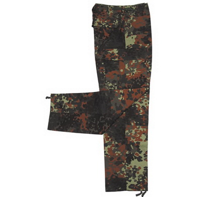 Kalhoty US BDU rip-stop FLECKTARN