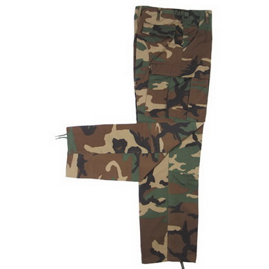 Kalhoty US BDU rip-stop WOODLAND