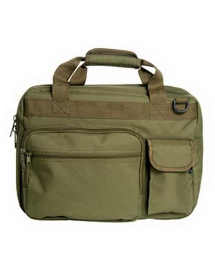 Aktovka s taškou na notebook zelená