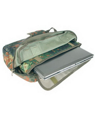 Aktovka s taškou na notebook - flecktarn