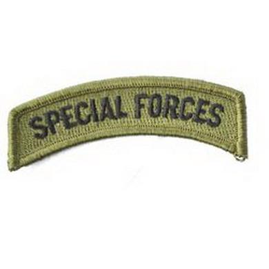 Nášivka jmenovka SPECIAL FORCES OLIV
