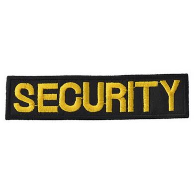 Nášivka SECURITY - ÈERNÁ se žlutou nití